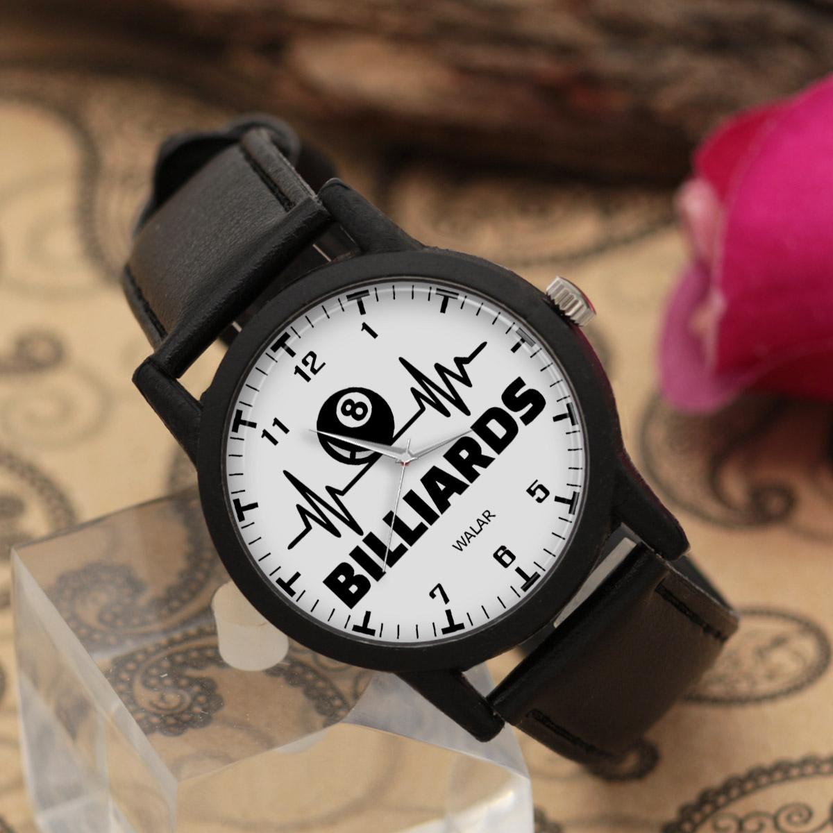 ساعت مچی عقربه ای والار طرح بیلیارد کد LF2314