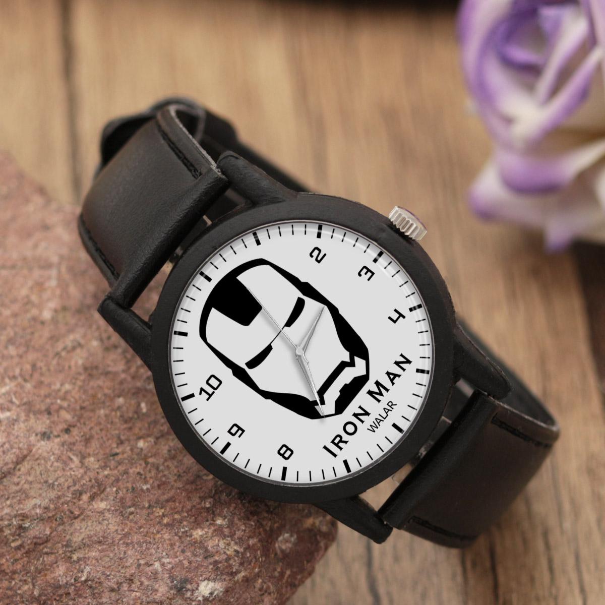 کد تخفیف                                      ساعت مچی عقربه ای والار طرح آیرون من کد LF2318