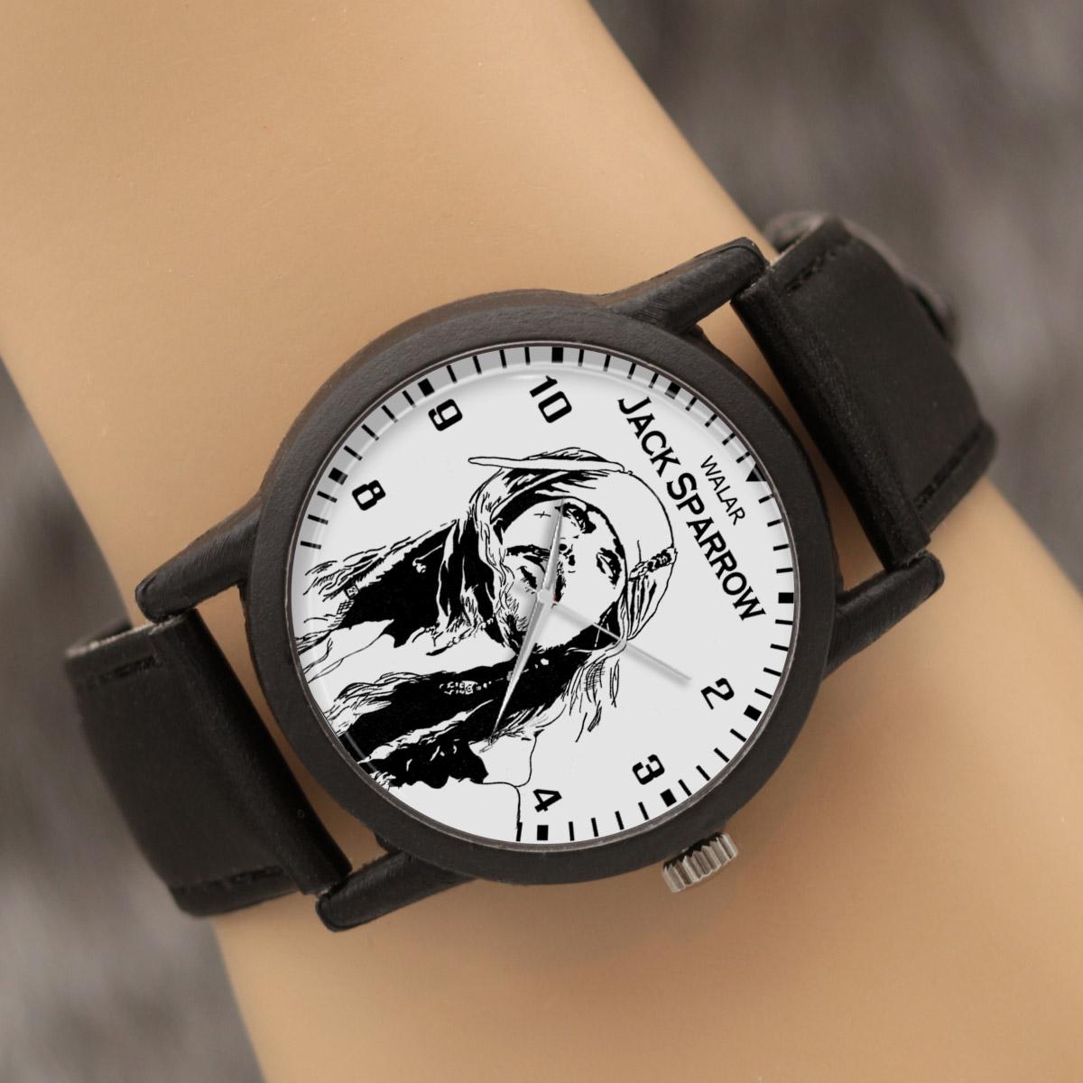 کد تخفیف                                      ساعت مچی عقربه ای والار طرح کاپیتان جک اسپارو کد LF2319