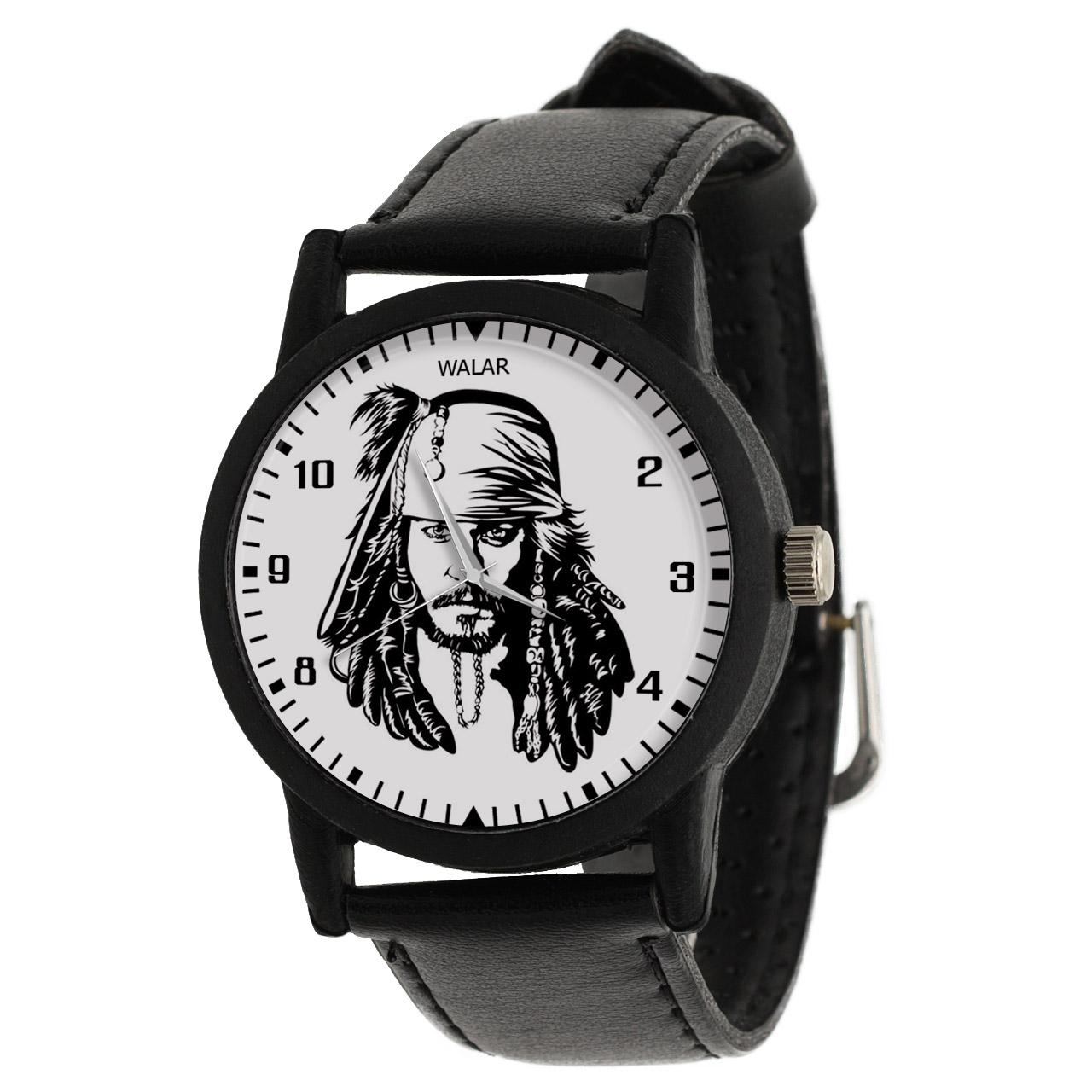 کد تخفیف                                      ساعت مچی عقربه ای والار طرح کاپیتان جک اسپارو کد LF2320