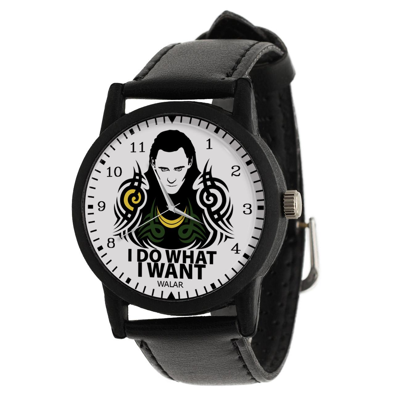 کد تخفیف                                      ساعت مچی عقربه ای والار طرح لوکی کد LF2322