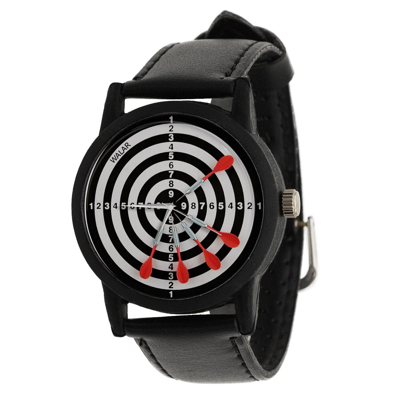 کد تخفیف                                      ساعت مچی عقربه ای والار طرح دارت کد LF2336