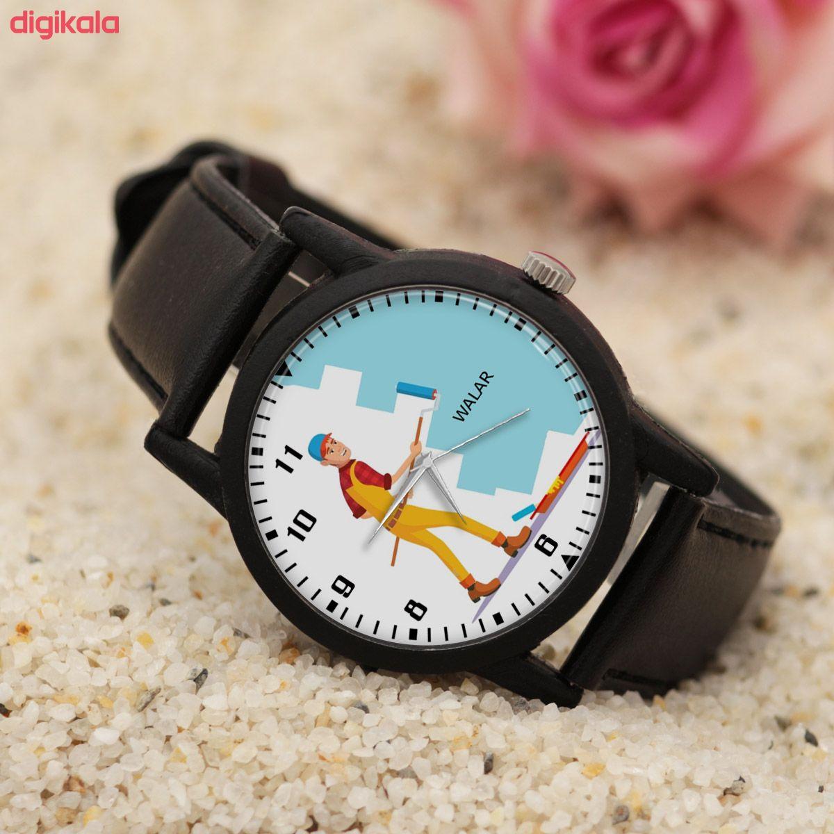 ساعت مچی عقربه ای مردانه والار طرح رنگ کار کد LF2346