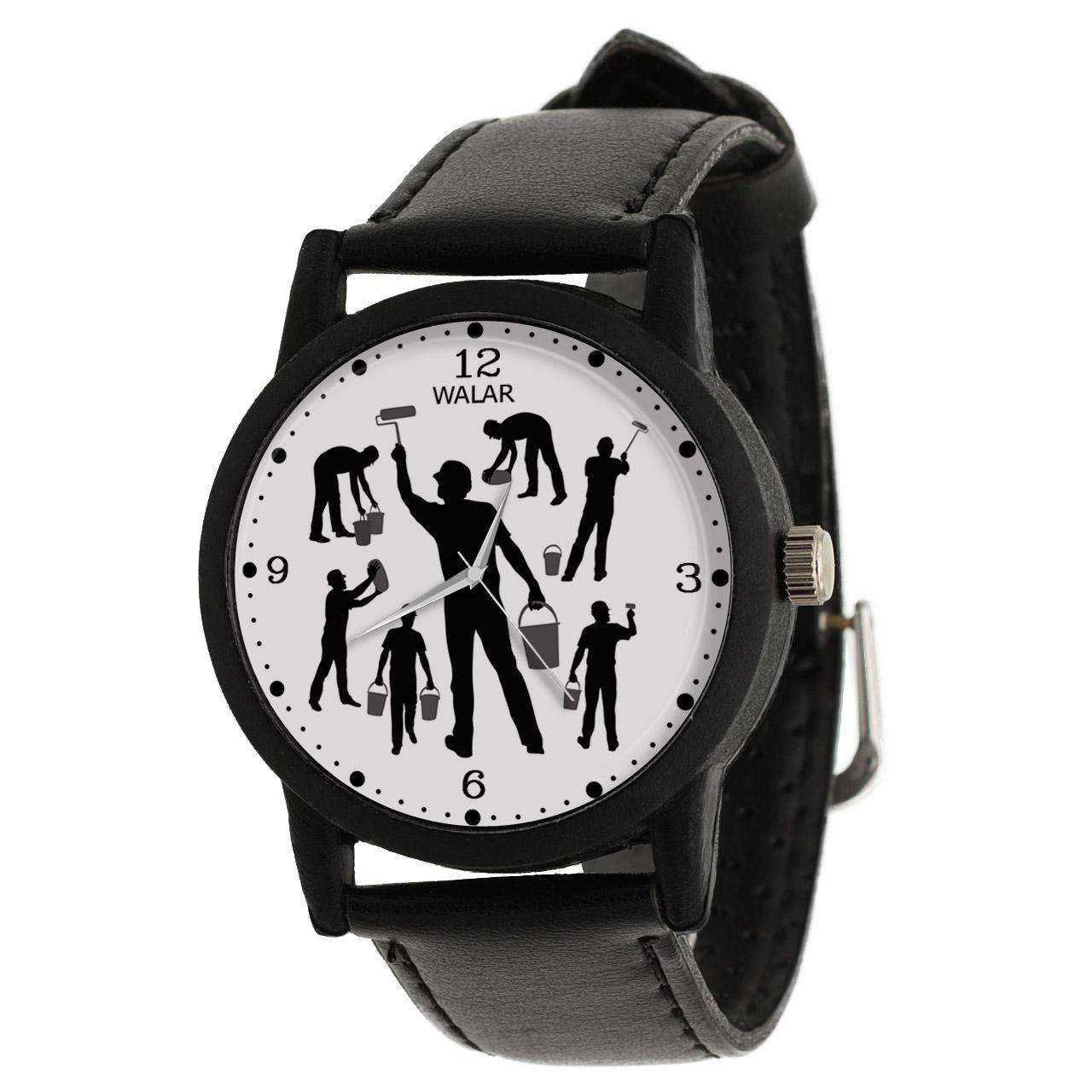 کد تخفیف                                      ساعت مچی عقربه ای مردانه والار طرح نقاش کد LF2347