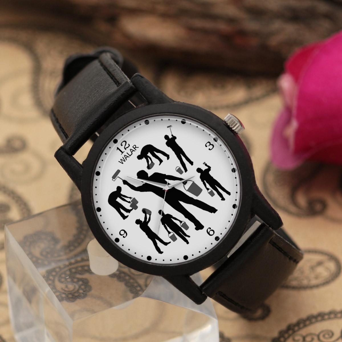 ساعت مچی عقربه ای مردانه والار طرح نقاش کد LF2347