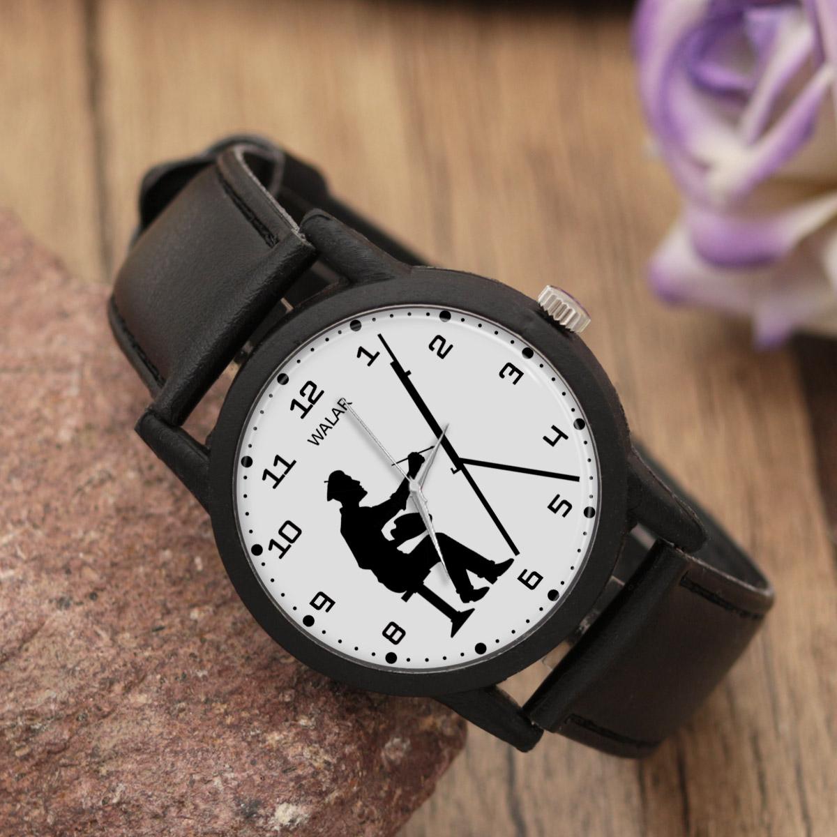 کد تخفیف                                      ساعت مچی عقربه ای مردانه والار طرح نقاش کد LF2350