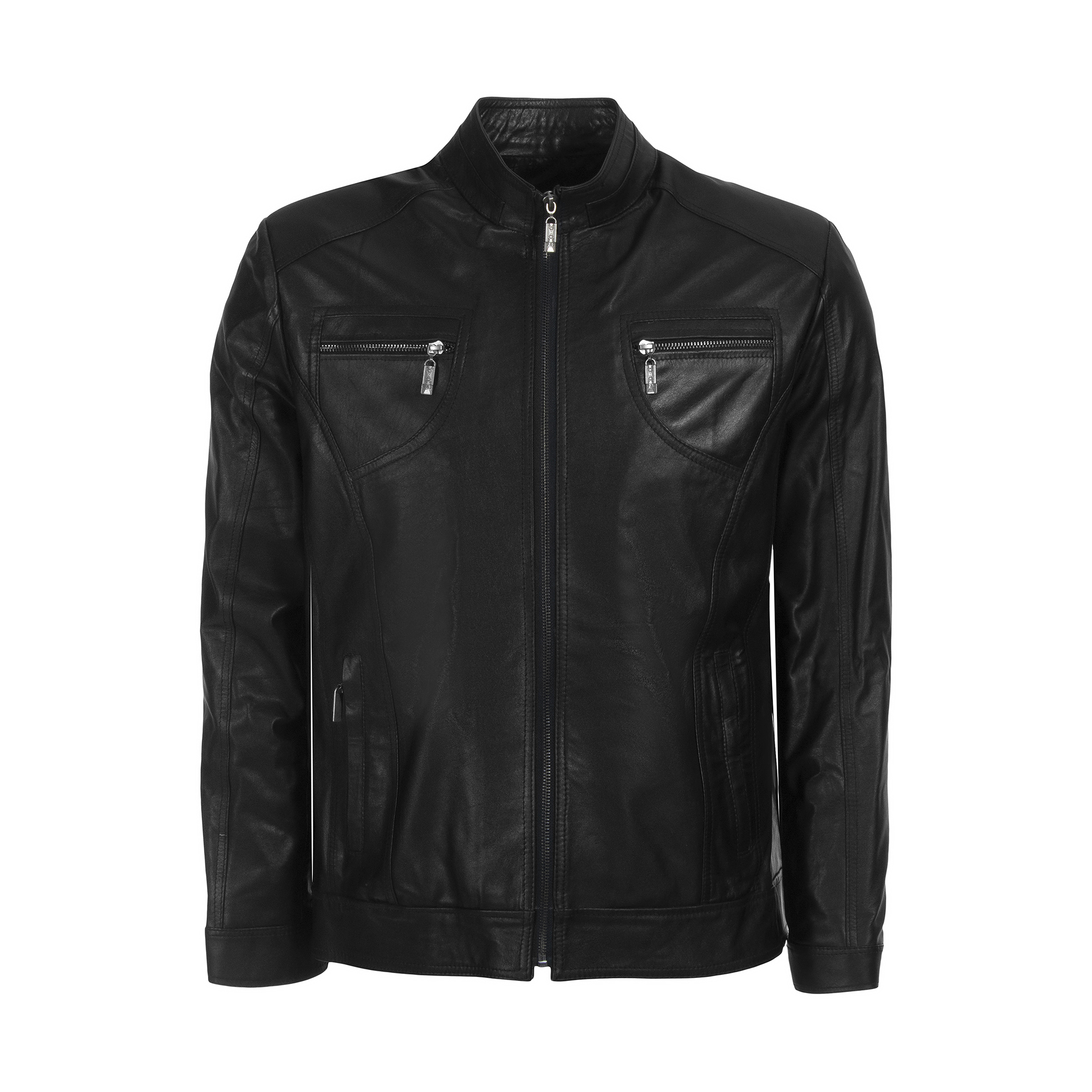 Men leather jacket, code 02