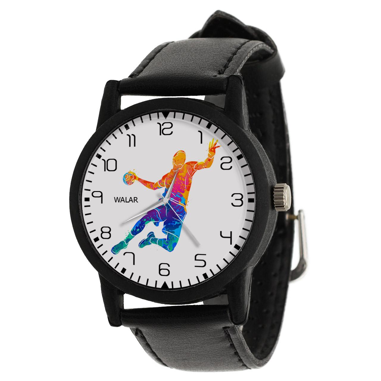 کد تخفیف                                      ساعت مچی عقربه ای مردانه والار طرح هندبال کد LF2351