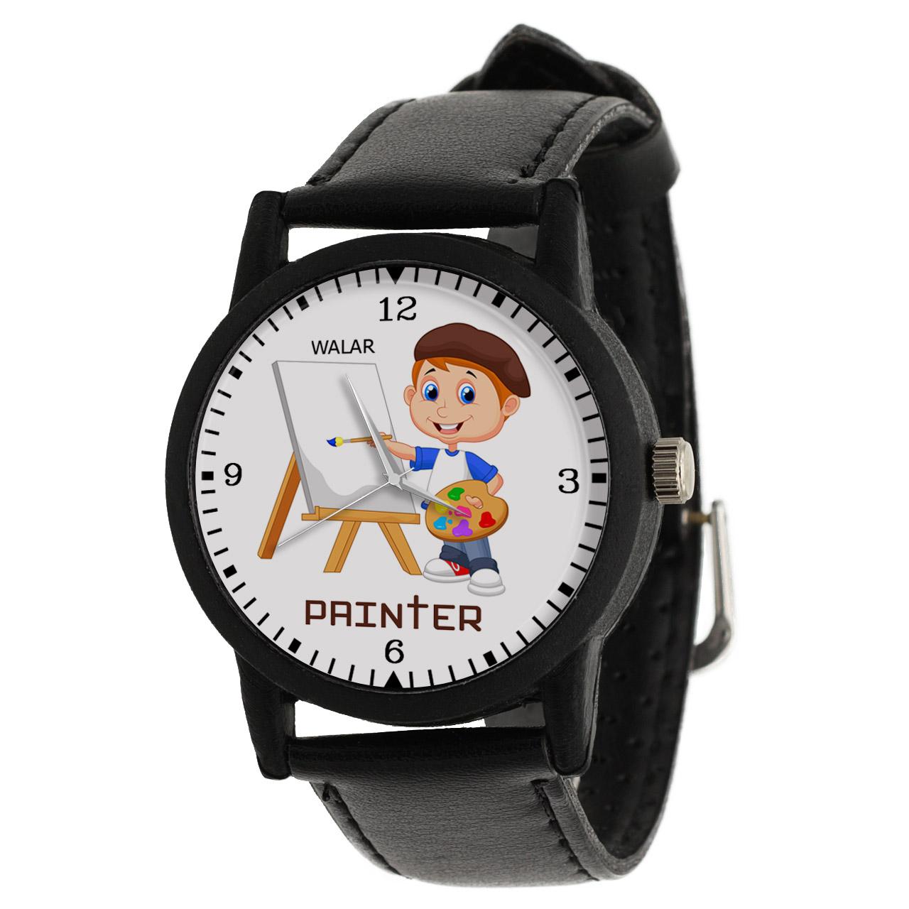 ساعت مچی عقربه ای والار طرح نقاش کد LF2354              ارزان