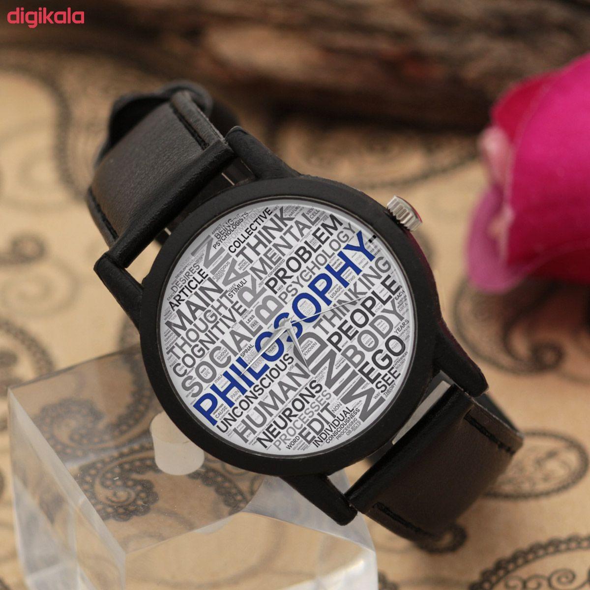 ساعت مچی عقربه ای والار طرح فلسفه کد LF2357