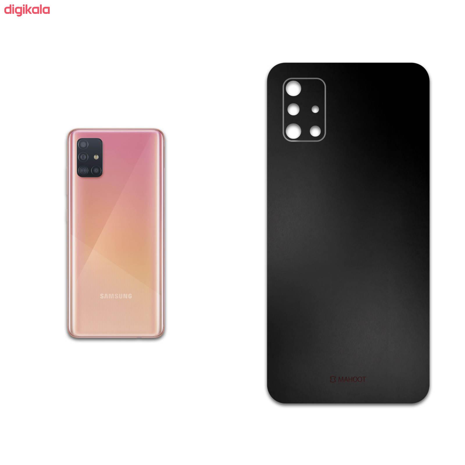 برچسب پوششی ماهوت مدل Black-Matte مناسب برای گوشی موبایل سامسونگ Galaxy A51
