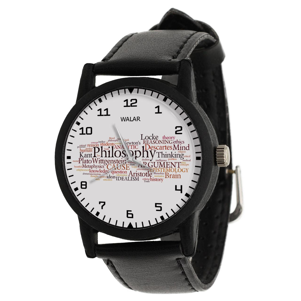 ساعت مچی عقربه ای والار طرح فلسفه کد LF2359