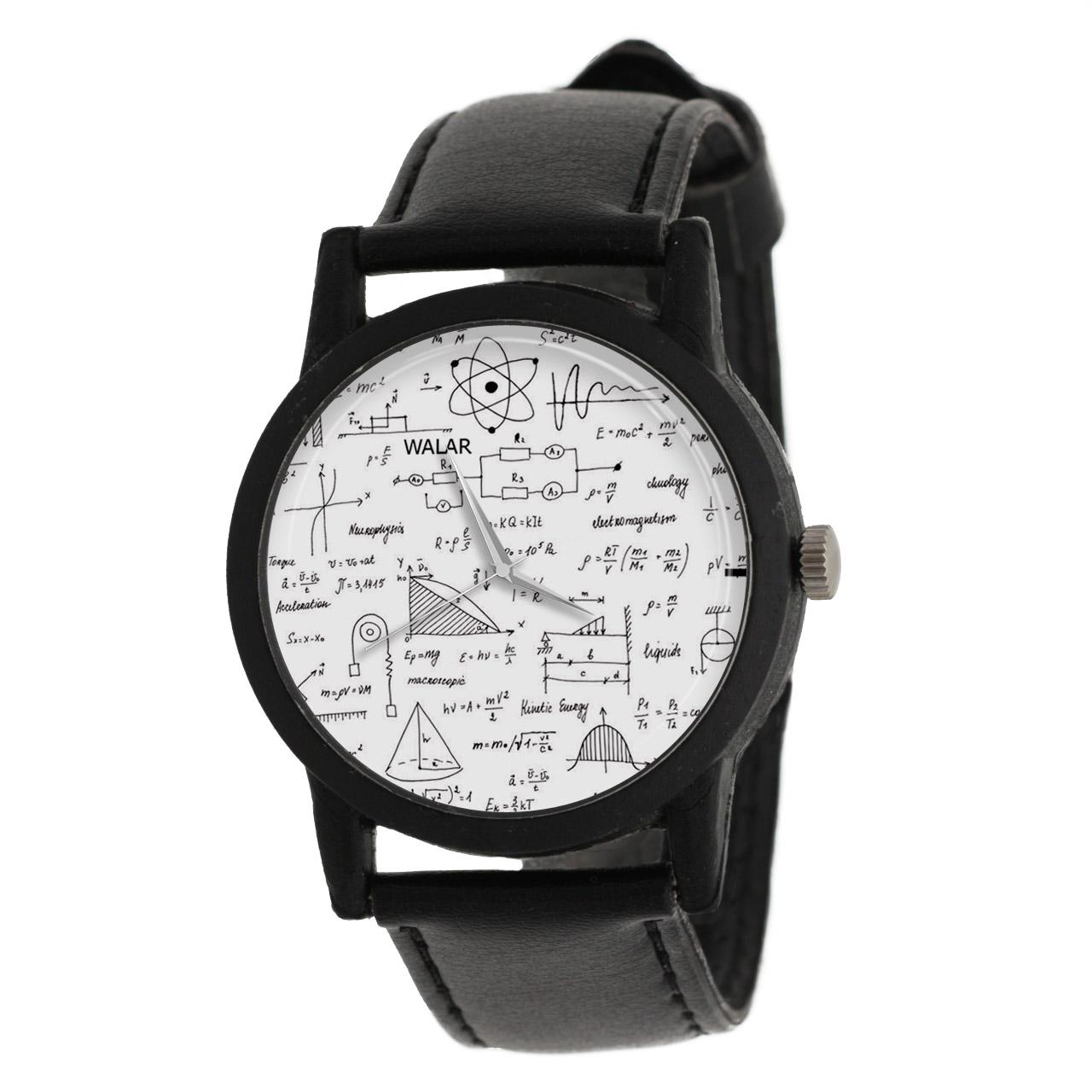 کد تخفیف                                      ساعت مچی عقربه ای والار طرح فیزیک کد LF2367