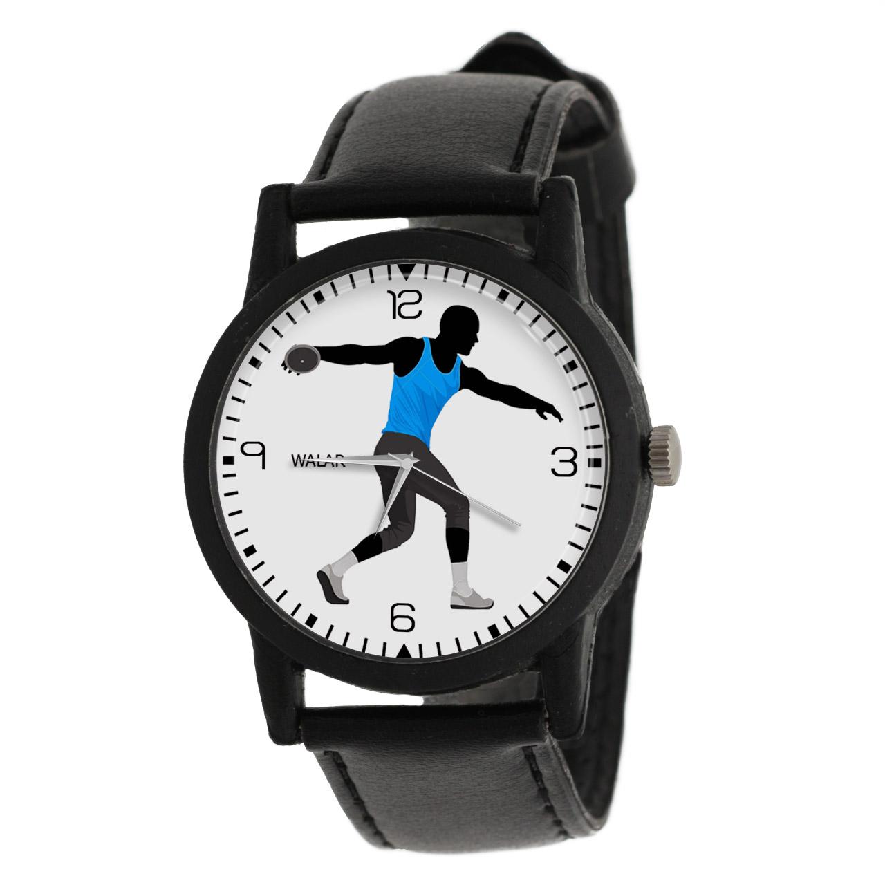 کد تخفیف                                      ساعت مچی عقربه ای مردانه والار طرح پرتاب دیسک کد LF2373