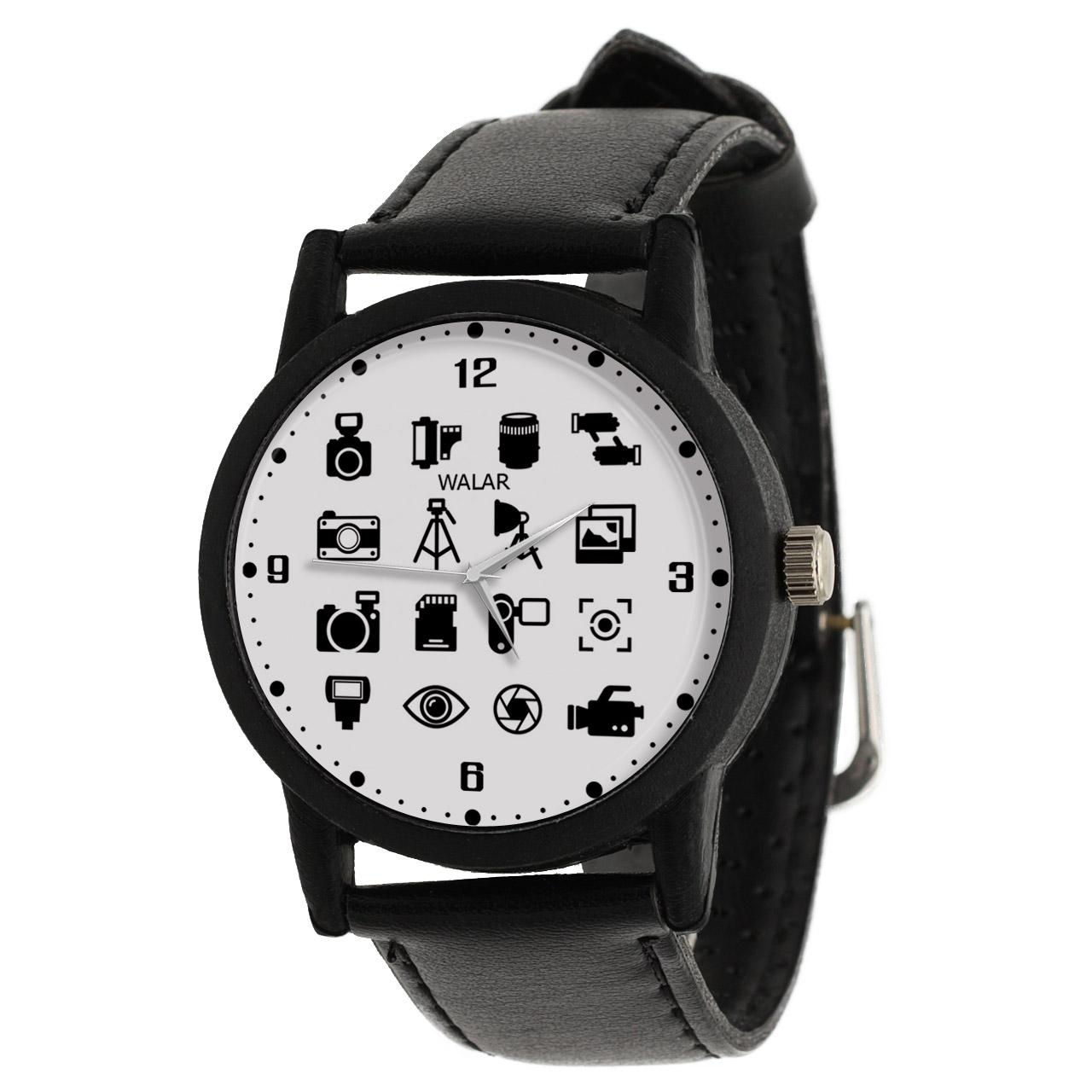 کد تخفیف                                      ساعت مچی عقربه ای والار طرح عکاسی کد LF2382