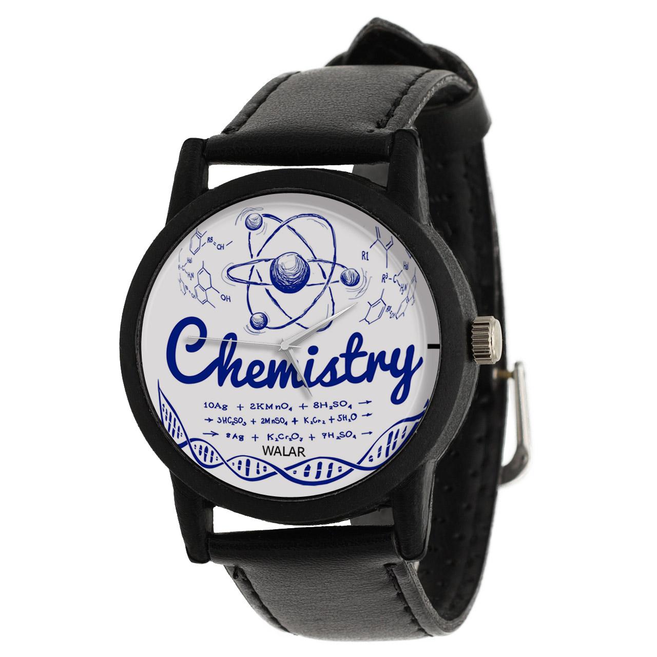 کد تخفیف                                      ساعت مچی عقربه ای والار طرح شیمی کد LF2386
