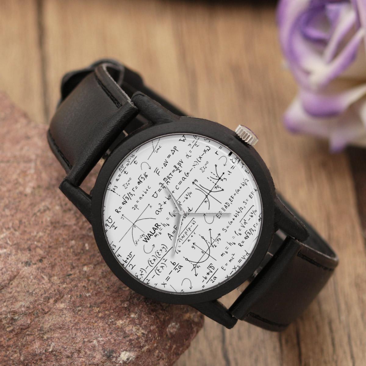 کد تخفیف                                      ساعت مچی عقربه ای والار طرح ریاضی کد LF2391
