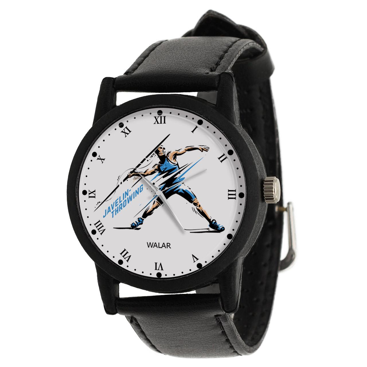 کد تخفیف                                      ساعت مچی عقربه ای مردانه والار طرح پرتاب نیزه کد LF2395
