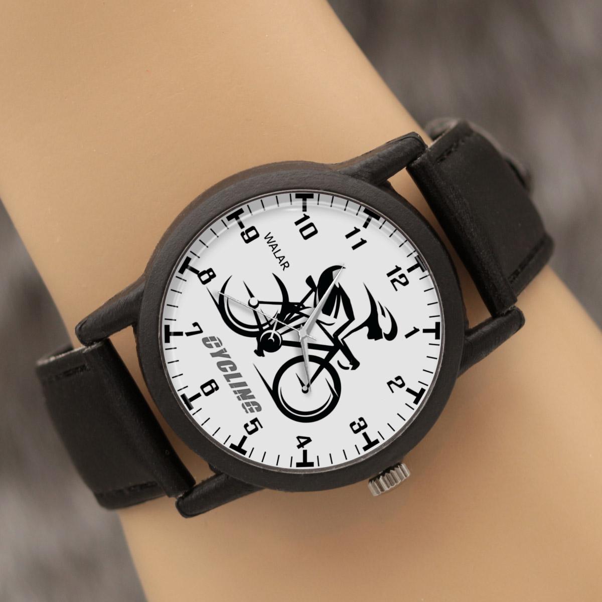 کد تخفیف                                      ساعت مچی عقربه ای والار طرح دوچرخه سواری کد LF2396