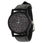 ساعت مچی عقربه ای  زنانه و مردانه والار طرح ریاضی کد LF2397