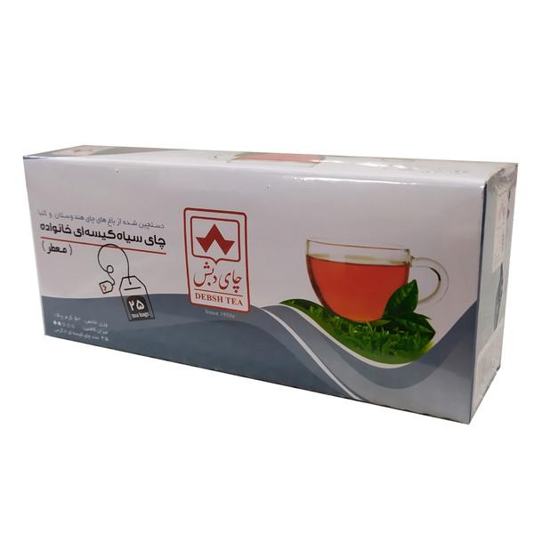 چای سیاه کیسه ای عطری دبش بسته 25 عددی