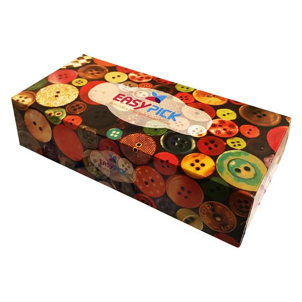 دستمال کاغذی 100 برگ ایزی پیک مدل رنگارنگ