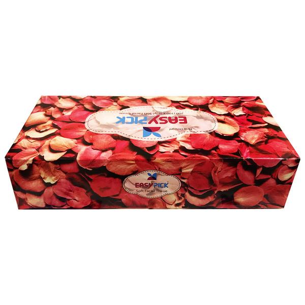 دستمال کاغذی 100 برگ ایزی پیک مدل گلبرگ
