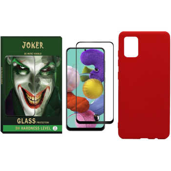کاور مدل JR-01 مناسب برای گوشی موبایل سامسونگ Galaxy A51 به همراه محافظ صفحه نمایش جوکر مدل FUM-01