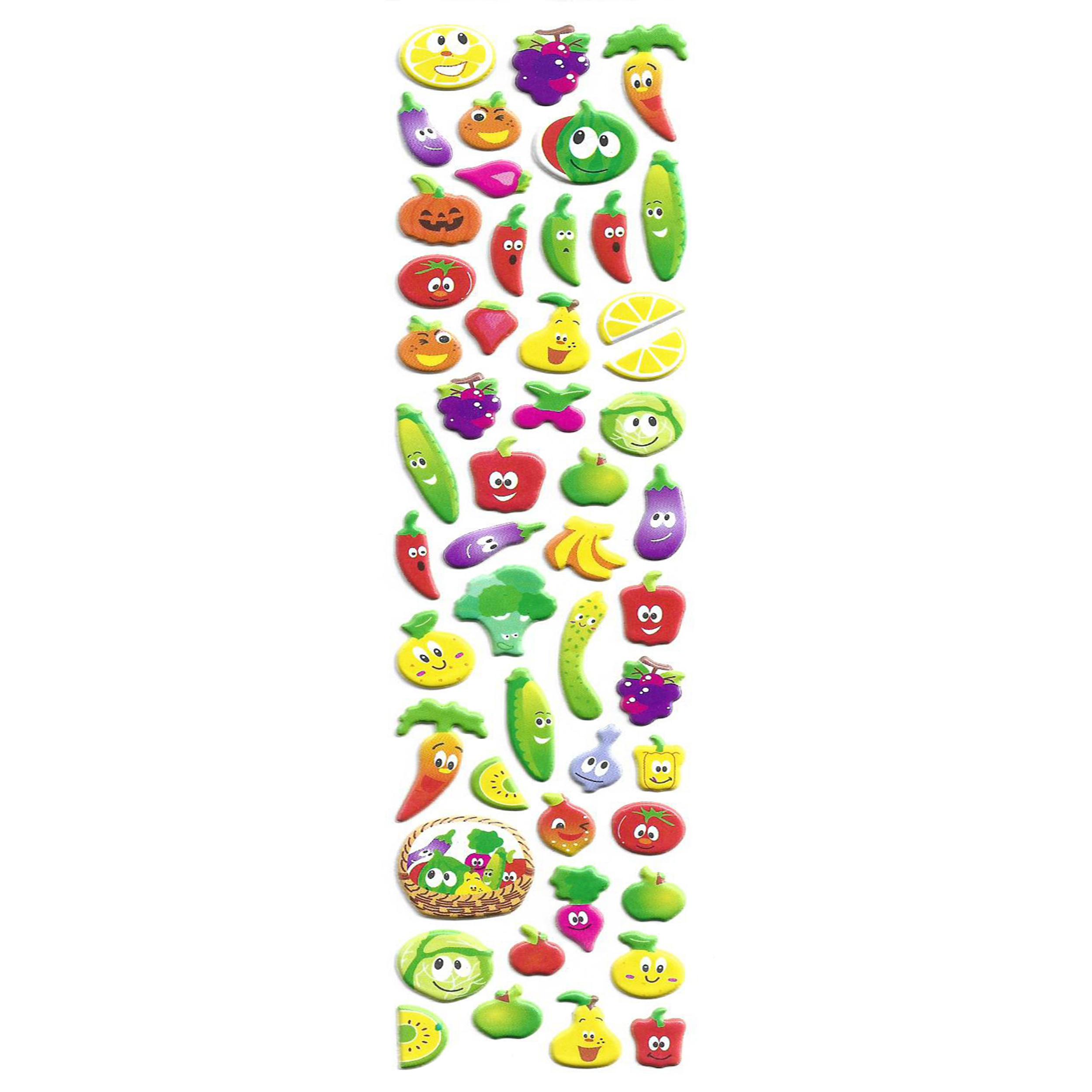 استیکر کودک طرح میوه مدل K031