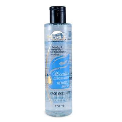 آب پاک کننده آرایش صورت موزیلا مدل میسلار حجم 200 میلی لیتر