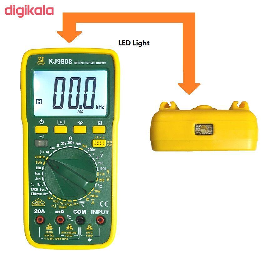 مولتی متر دیجیتال کی جی مدل KJ9808
