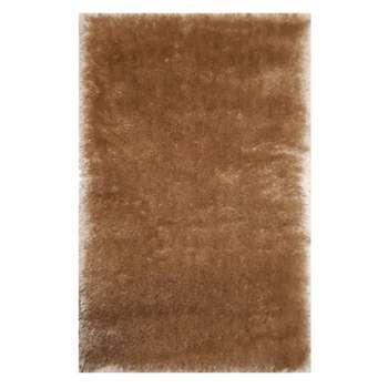 فرش ماشینی مدل شگی کد 5013 زمینه نسکافه ای