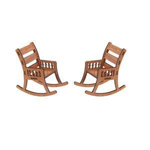 ماکت دکوری طرح صندلی راحتی مدل Q1 بسته 2 عددی
