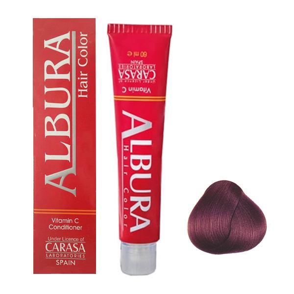 رنگ مو آلبورا مدل carasa شماره F14 حجم 100 میلی لیتر رنگ بنفش
