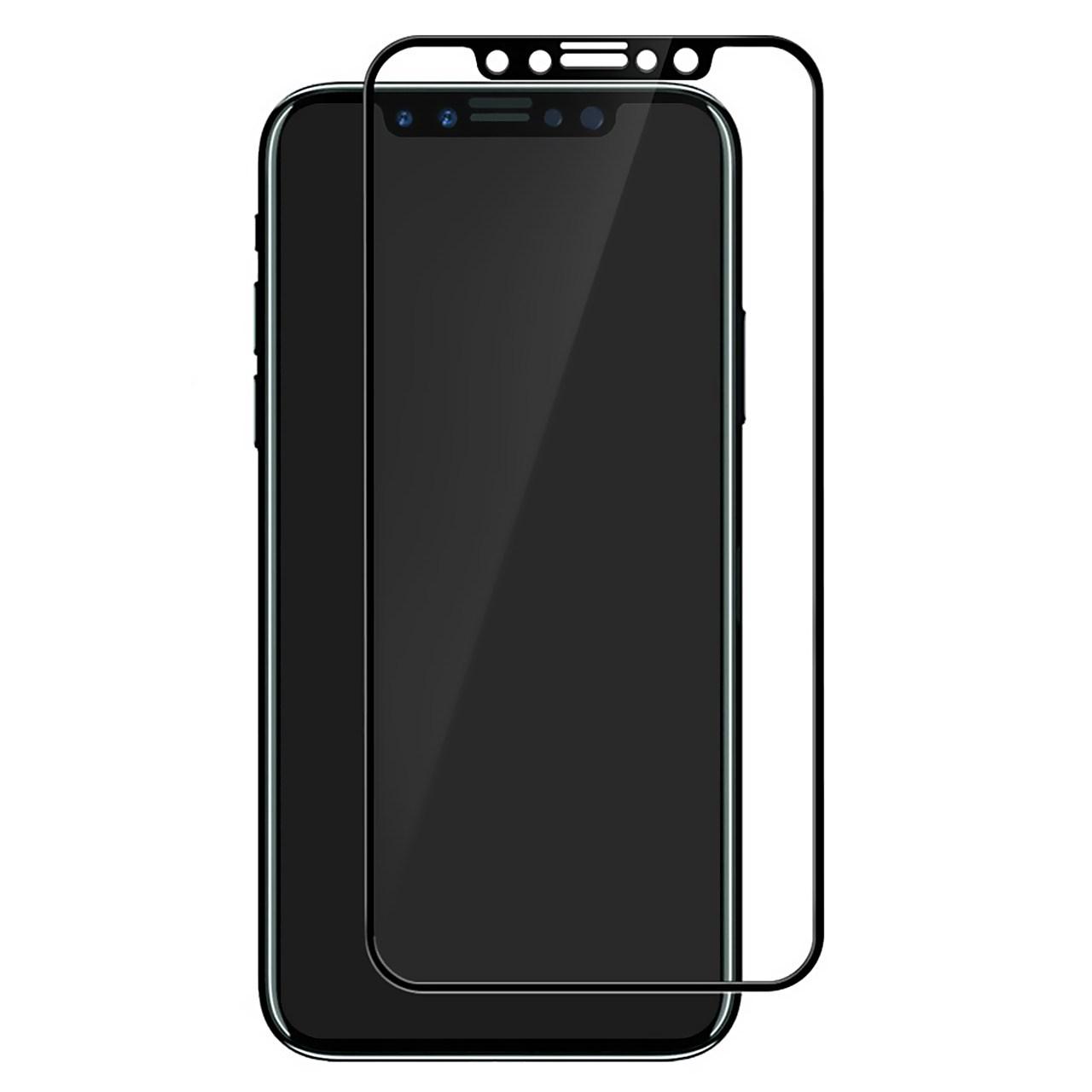 محافظ صفحه نمایش شیشه ای تمپرد مدل Full Cover مناسب برای گوشی موبایل اپل آیفون X