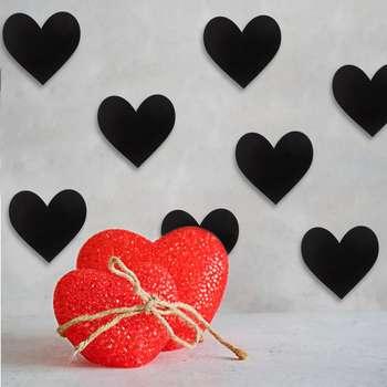 استیکر چوبی رومادون طرح قلب کد4044 بسته 15 عددی