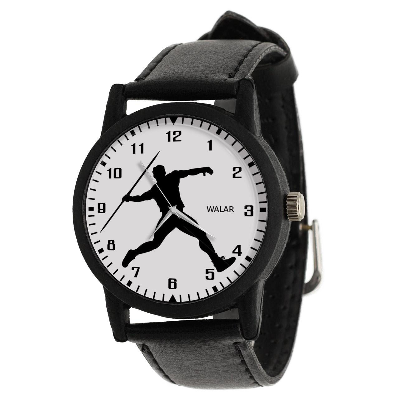 کد تخفیف                                      ساعت مچی عقربه ای مردانه والار طرح پرتاب نیزه کد LF2407