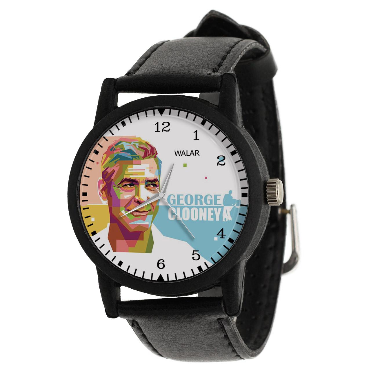 کد تخفیف                                      ساعت مچی عقربه ای والار طرح جورج کلونی کد LF2415