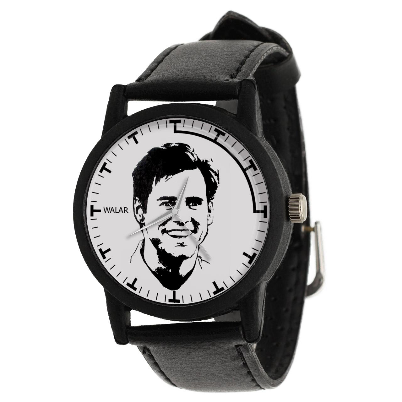 کد تخفیف                                      ساعت مچی عقربه ای والار طرح جیم کری کد LF2419