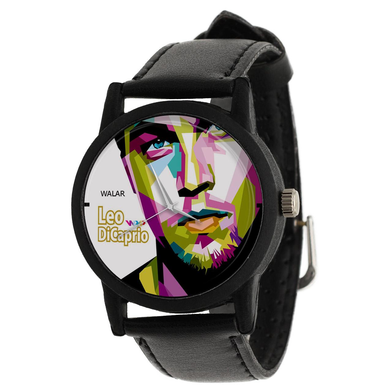 کد تخفیف                                      ساعت مچی عقربه ای والار طرح لئوناردو دیکاپریو کد LF2427