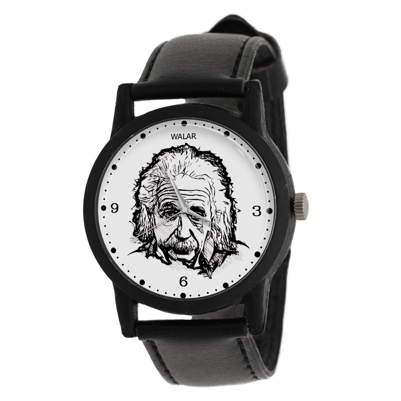 کد تخفیف                                      ساعت مچی عقربه ای والار طرح انیشتین کد LF2438