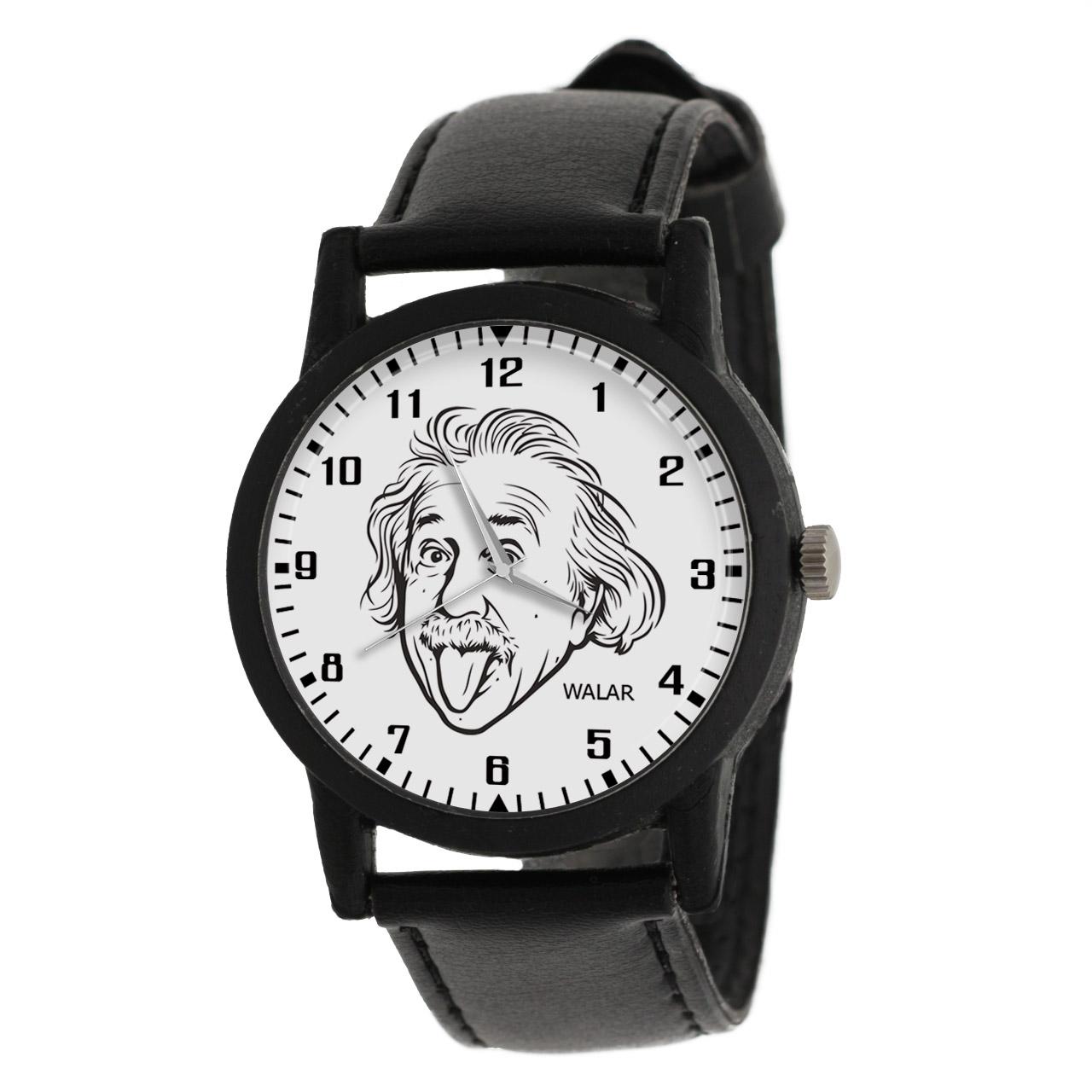 کد تخفیف                                      ساعت مچی عقربه ای والار طرح انیشتین کد LF2439
