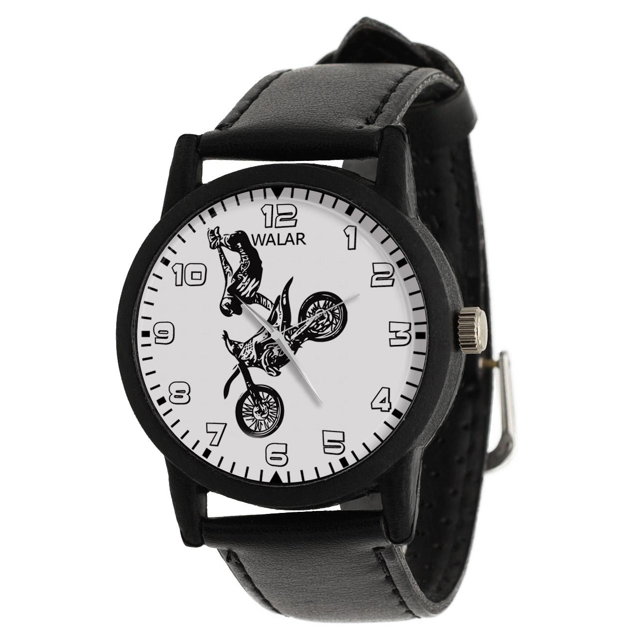 کد تخفیف                                      ساعت مچی عقربه ای والار طرح موتورسواری کد LF2462