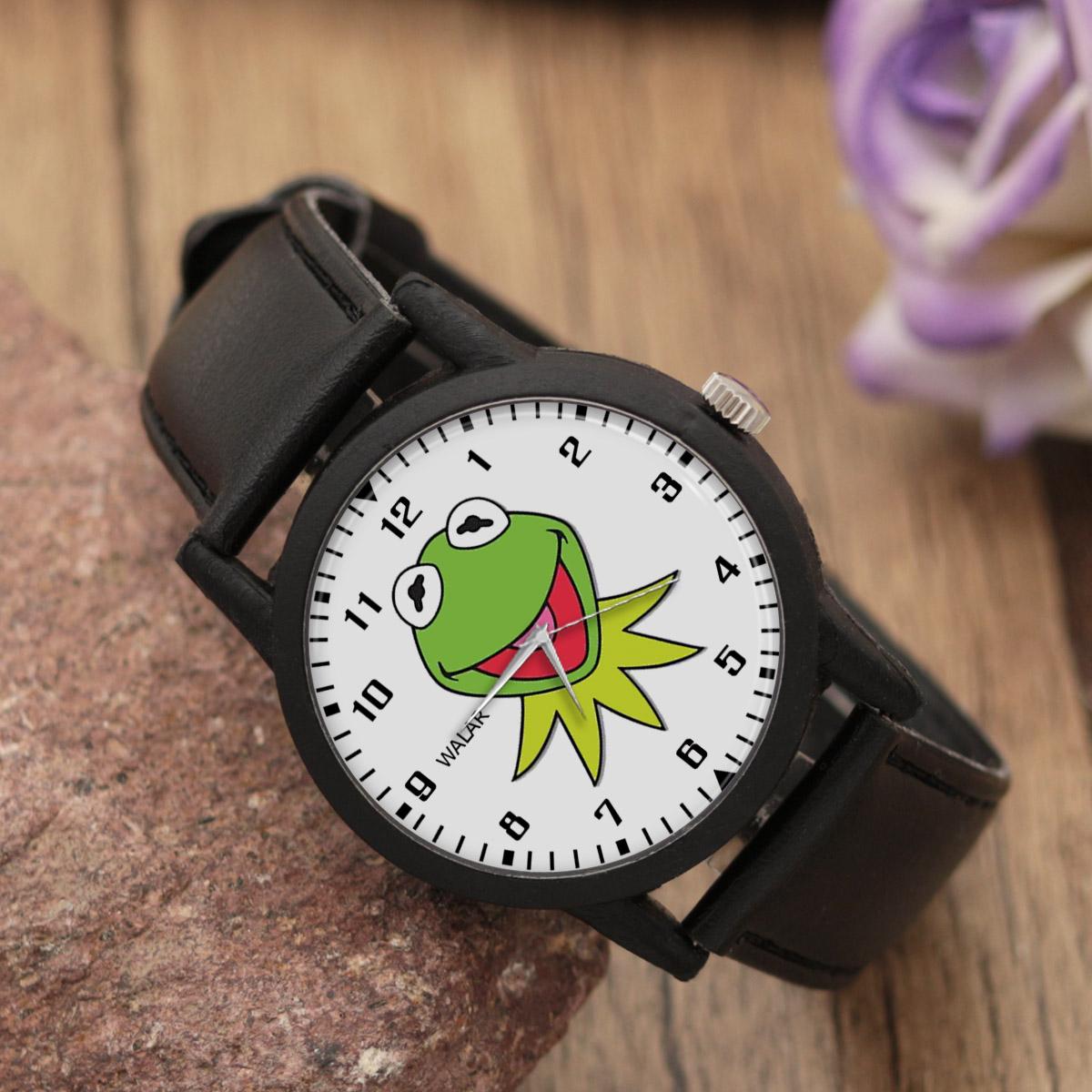 ساعت مچی عقربه ای والار طرح کرمیت کد LF2482              خرید (⭐️⭐️⭐️)