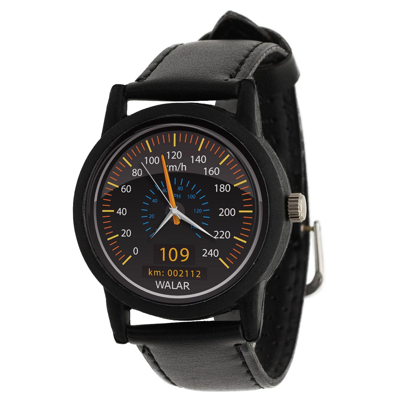 کد تخفیف                                      ساعت مچی عقربه ای والار طرح کیلومتر شمار کد LF2484