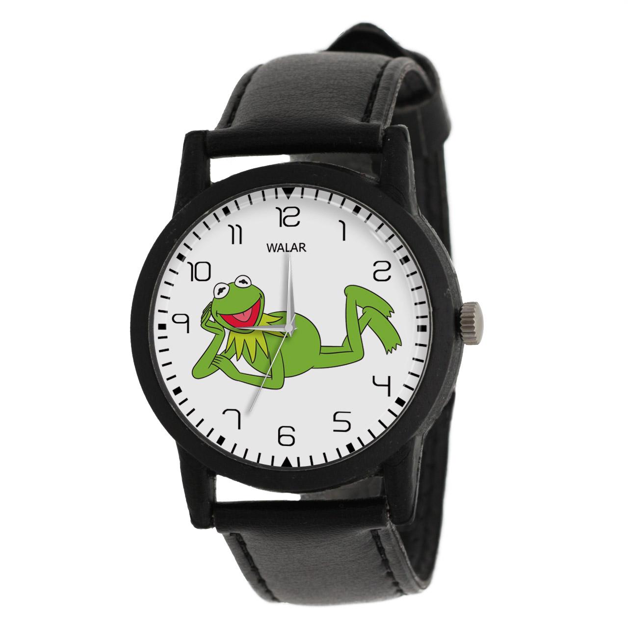 ساعت مچی عقربه ای والار طرح کرمیت کد LF2485              خرید (⭐️⭐️⭐️)