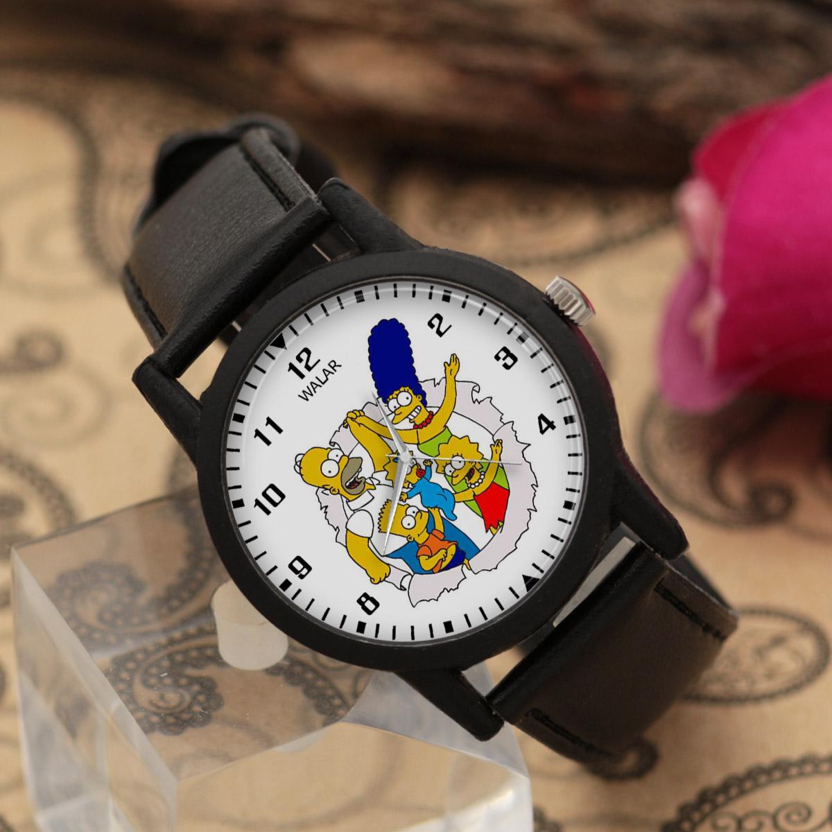 ساعت مچی عقربه ای والار طرح سیمپسونها کد LF2486