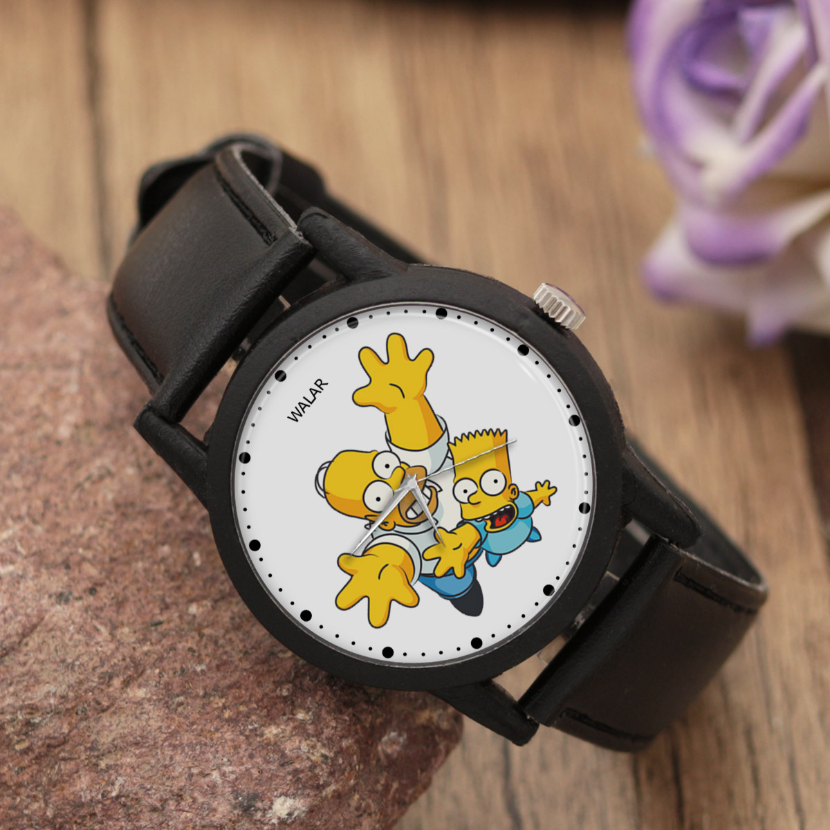 کد تخفیف                                      ساعت مچی عقربه ای والار طرح سیمپسونها کد LF2487