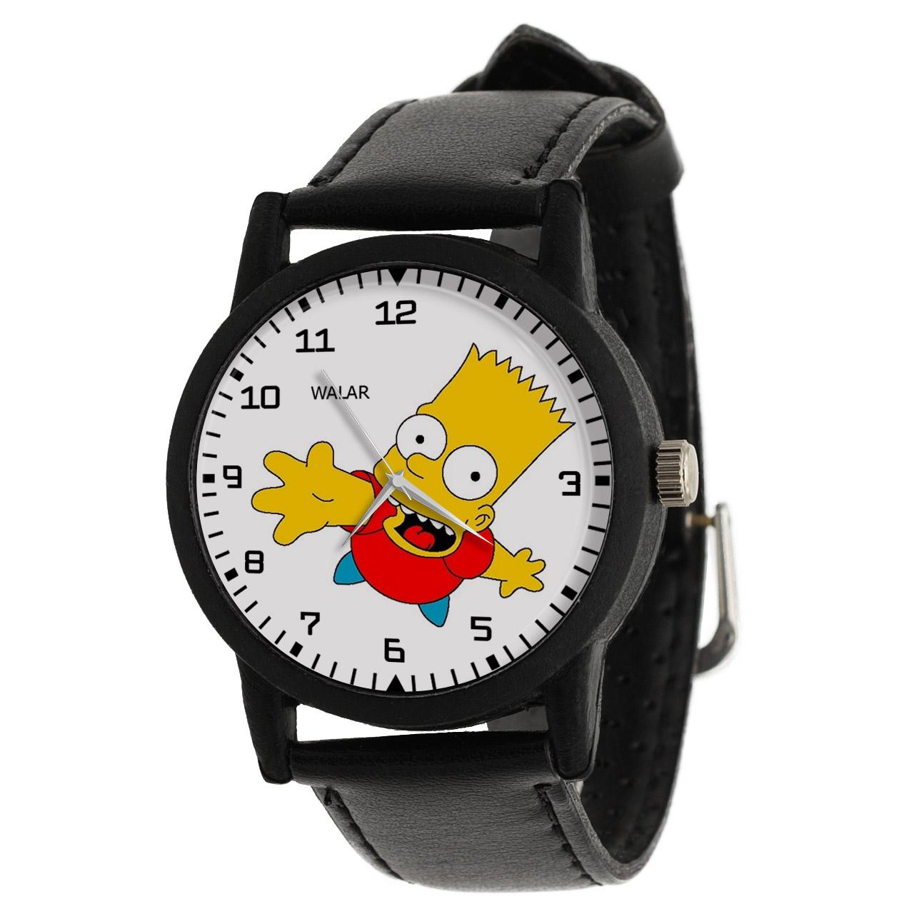 کد تخفیف                                      ساعت مچی عقربه ای والار طرح سیمپسونها کد LF2488