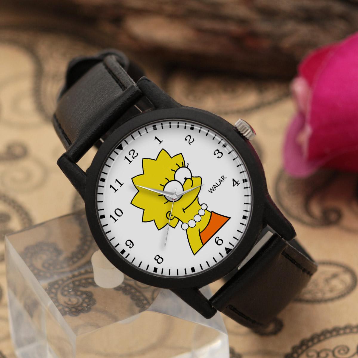 کد تخفیف                                      ساعت مچی عقربه ای والار طرح سیمپسونها کد LF2490